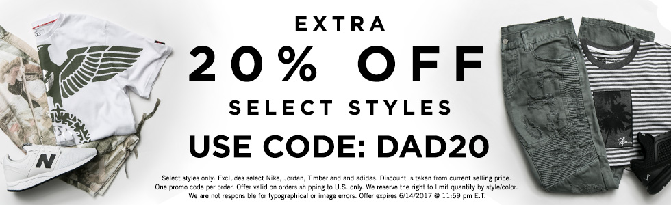 20% off select Styles at Jimmy Jazz